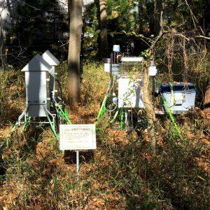 筑波実験植物園 大気調査