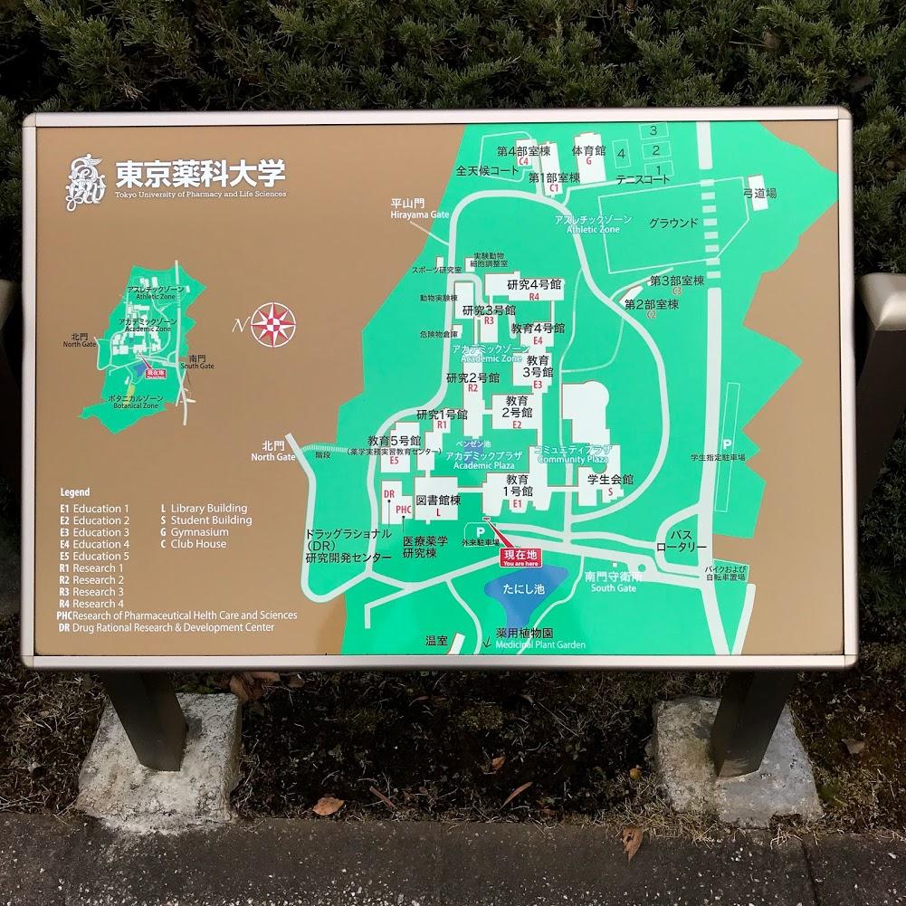 東京薬科大学 薬用植物園 案内図