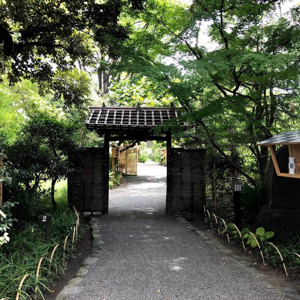 向島百花園入口の花屋敷門