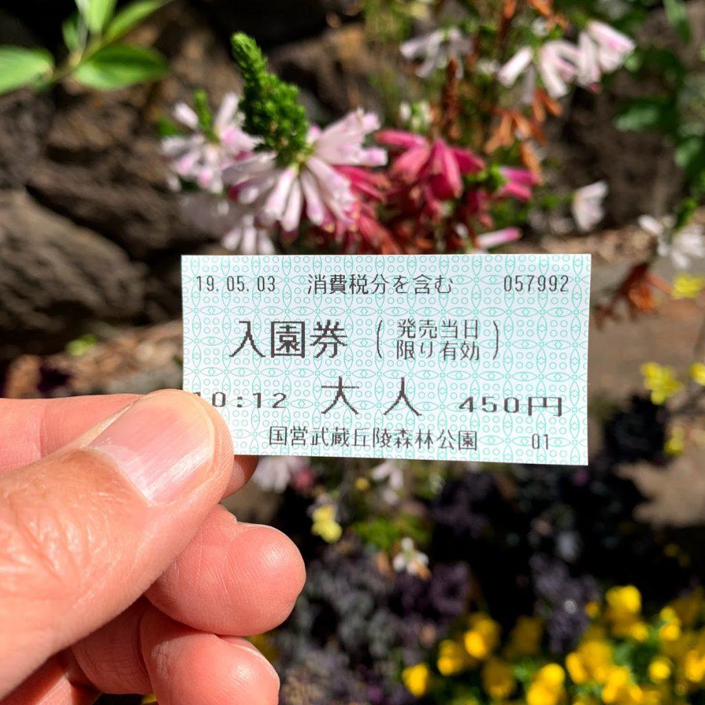 森林公園 入園切符