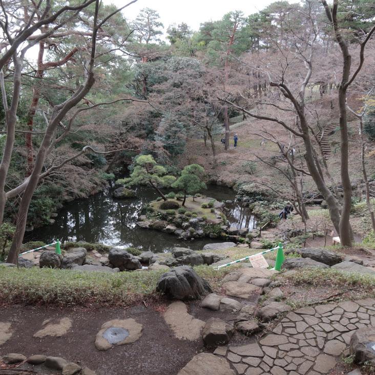 殿ヶ谷戸庭園を見渡す風景